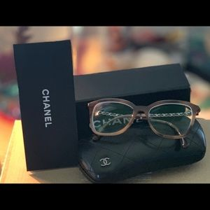 Chanel Leather inlay glasses